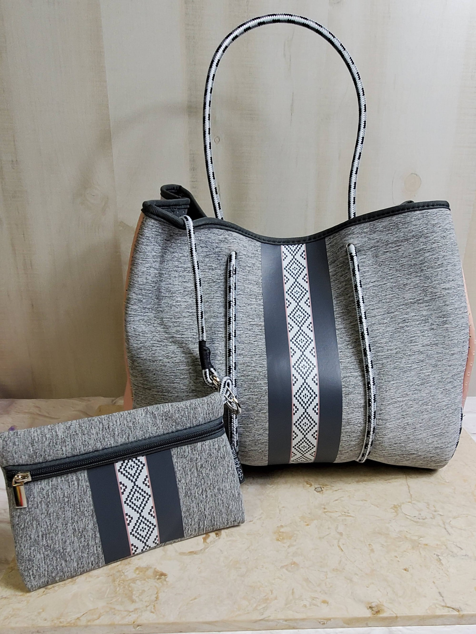 Grey Neoprene Bags