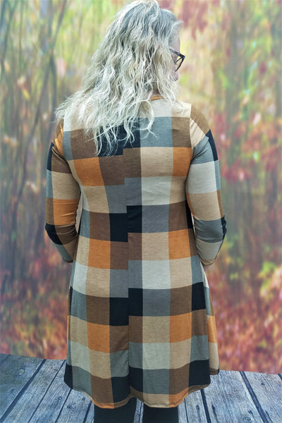 Harvest Plaid Dress