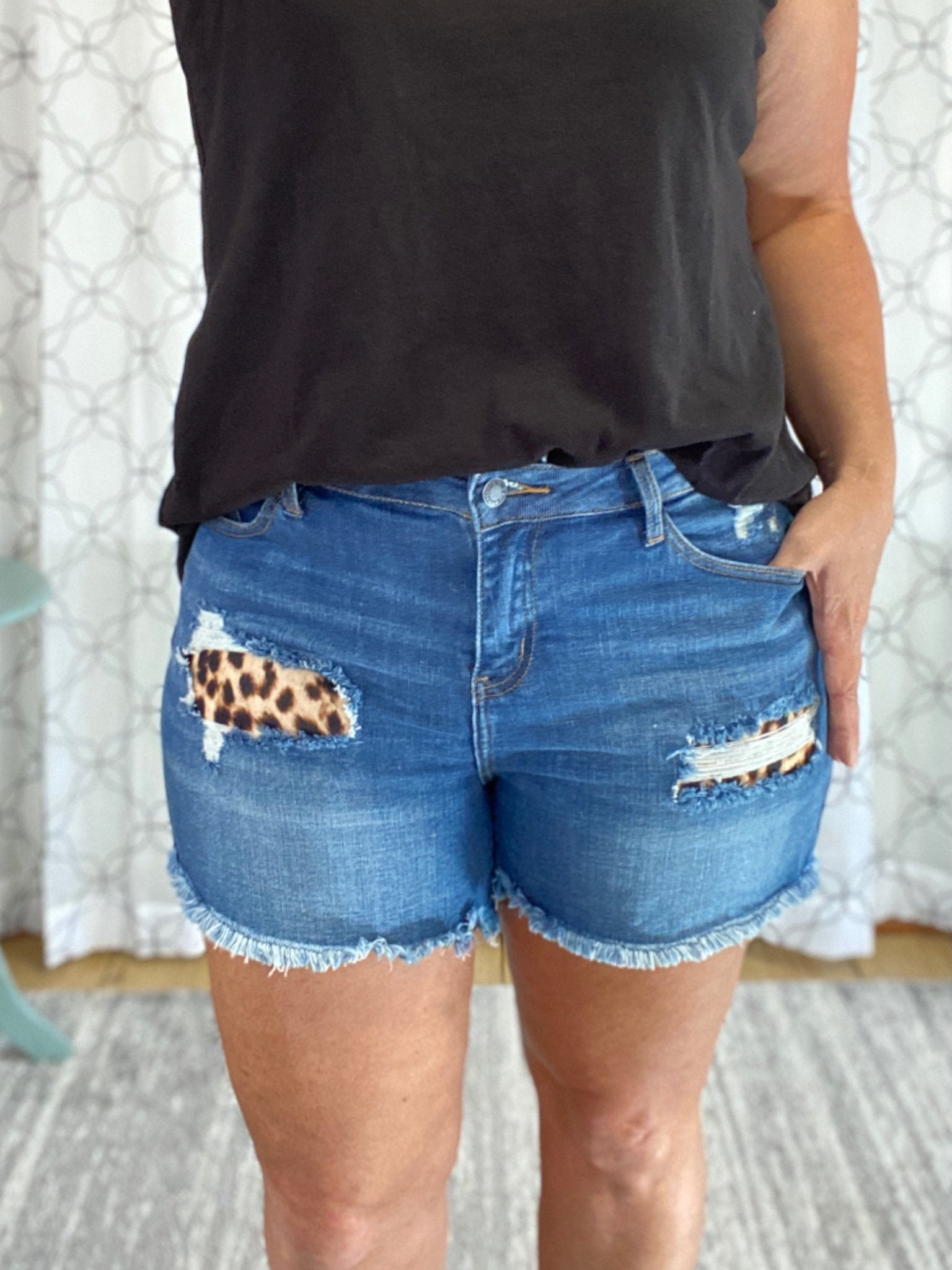 Show Your Wild Side Judy Blue Shorts