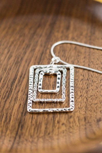 Tri-Rectangles Necklace RP-0714
