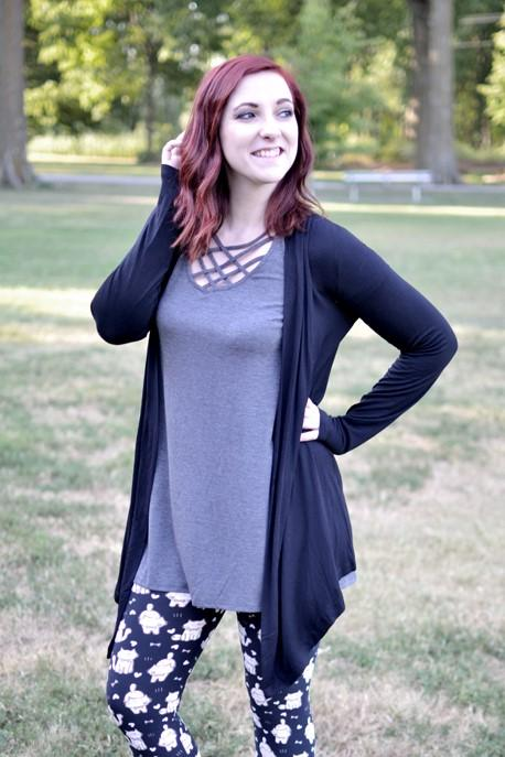 Adley Black Cardigan (Item #60)