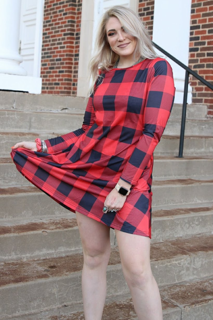 Aubrey Plaid Dress