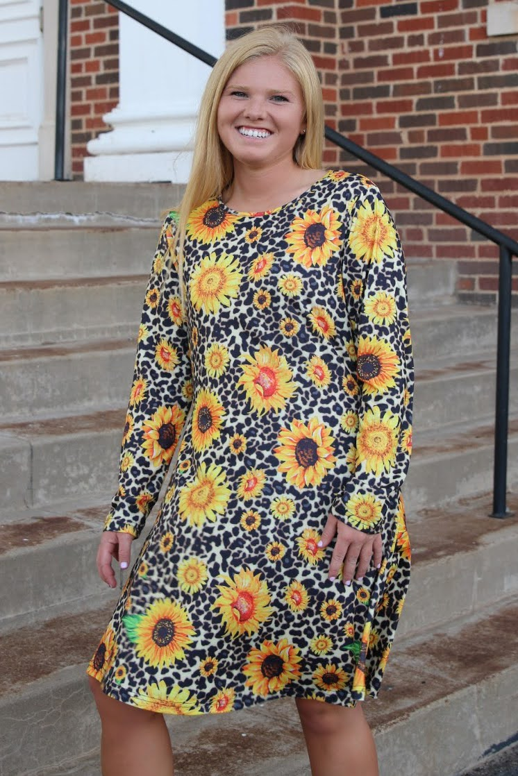 Aubrey Sunflower Dress