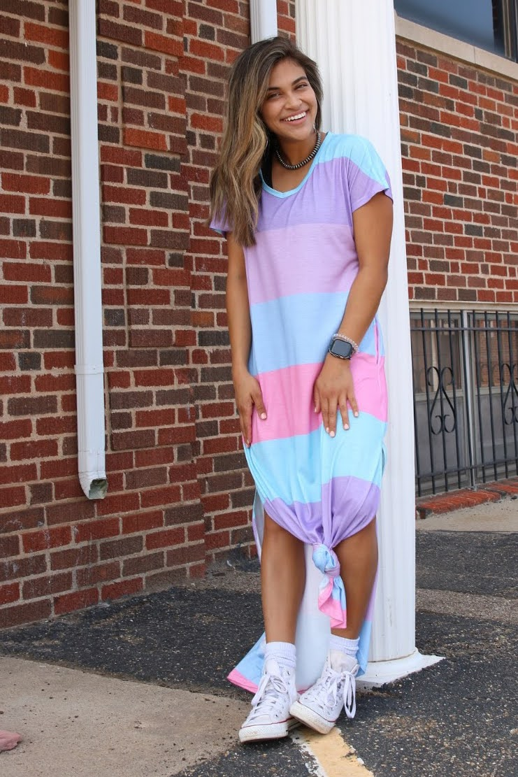 Stella Striped Maxi Dress