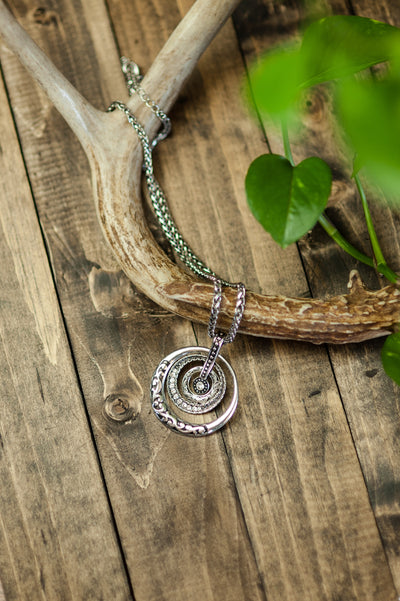 Silver Multi Circle Necklace RP-1874