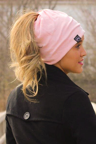 Light Pink Peek-A-Boo Beanie