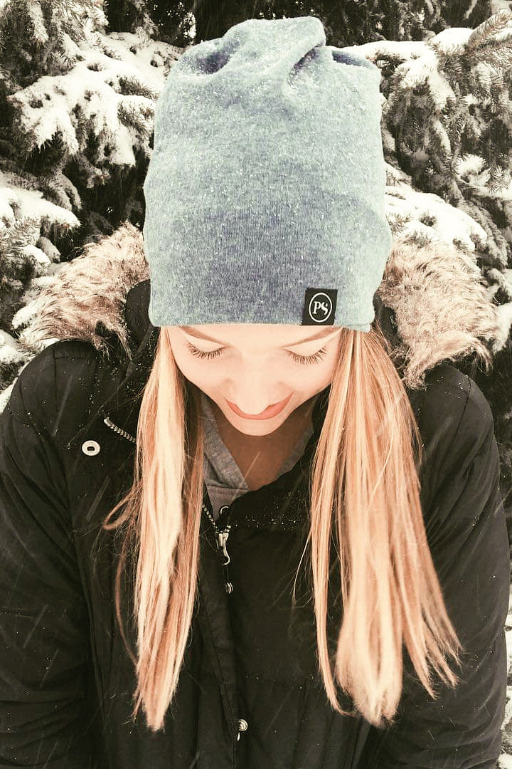 Light Grey Peek-A-Boo Beanie