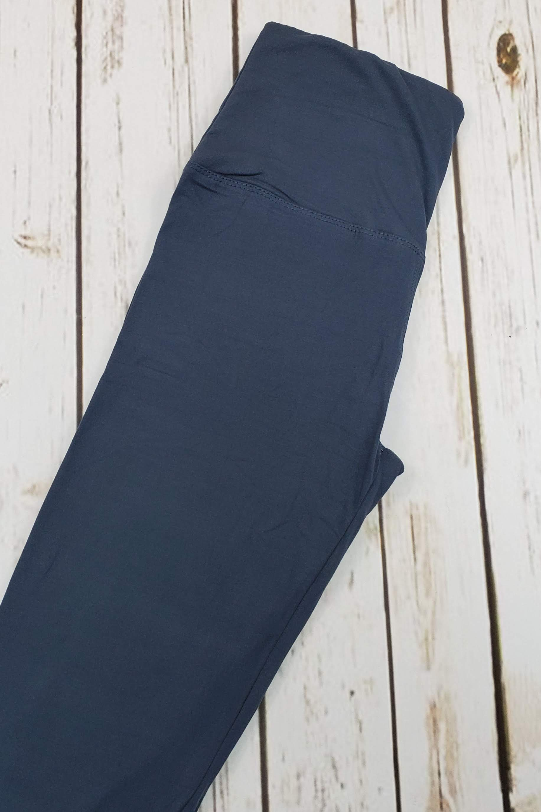 Solid Charcoal Leggings Yoga Band *SPECIALIZED*