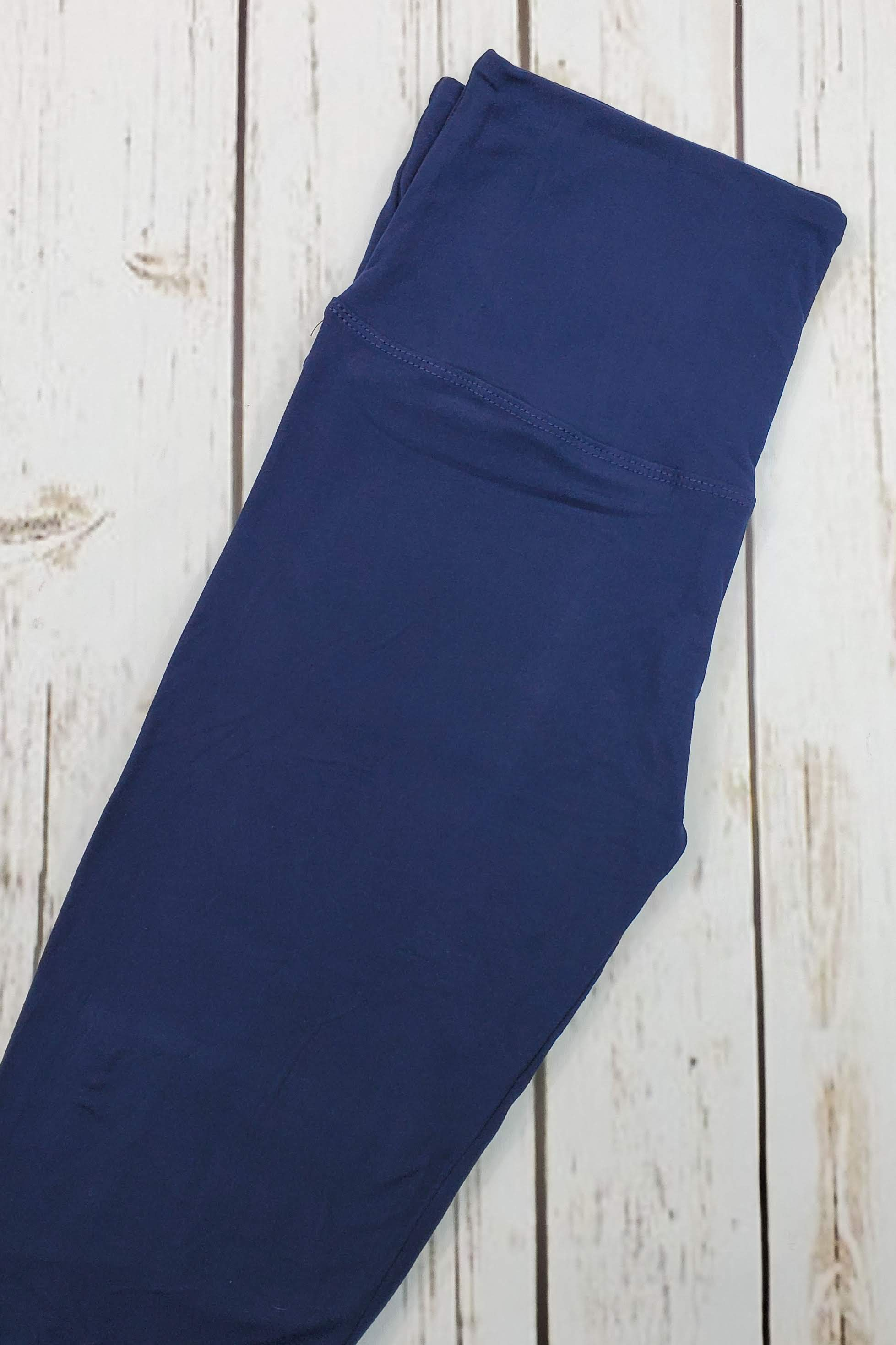 Solid Navy Leggings Yoga Band *SPECIALIZED*