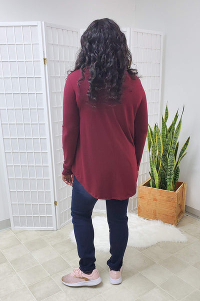 Presley Dark Burgundy Top (item #03)