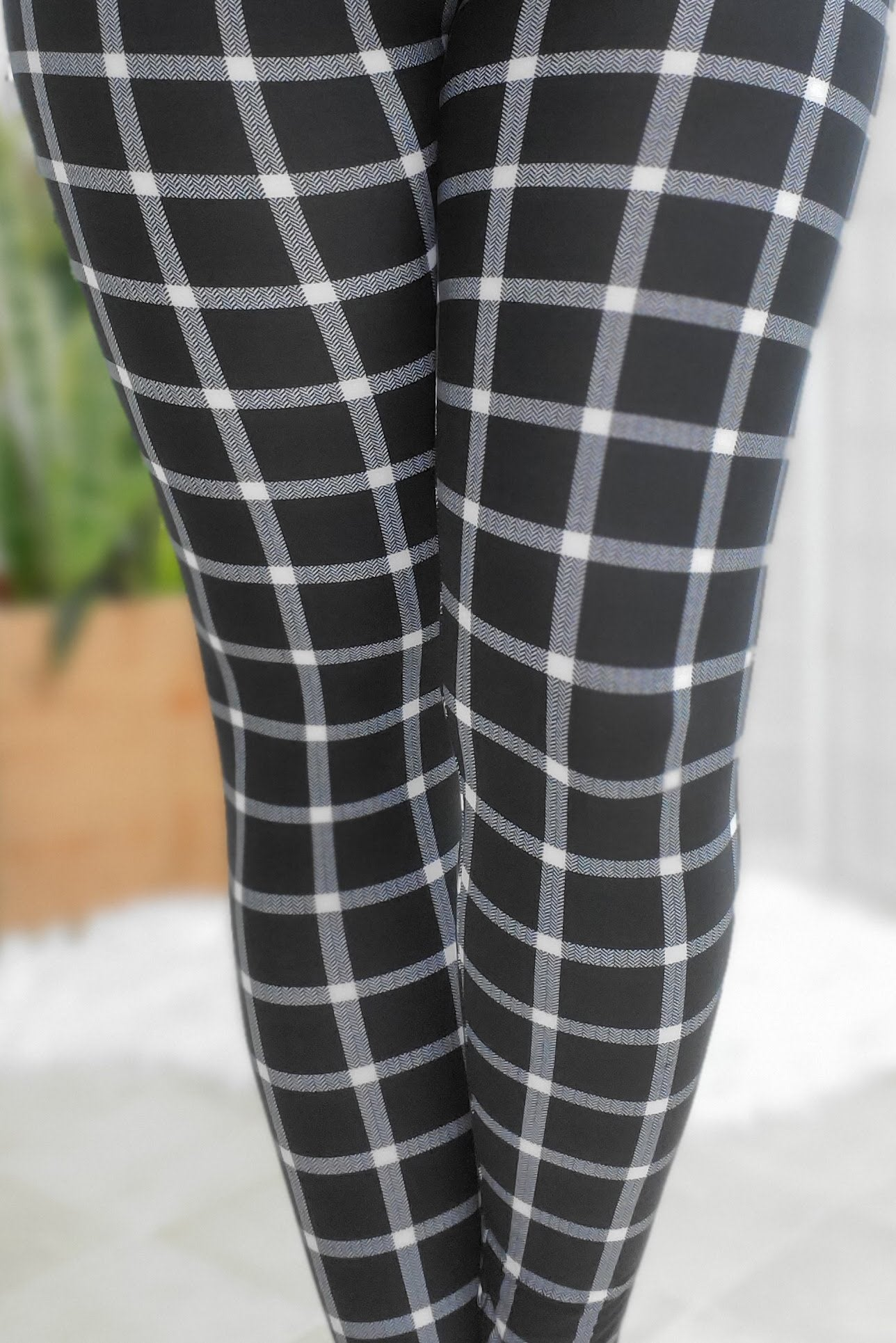 Checkered Plaid Leggings Yoga Band *SPECIALIZED*