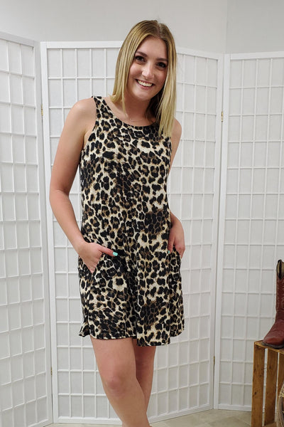 Quinn Leopard Sleeveless Dress