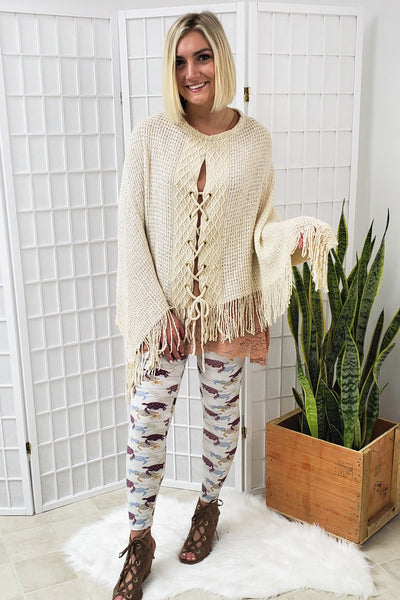 Sequined Ivory Shawl