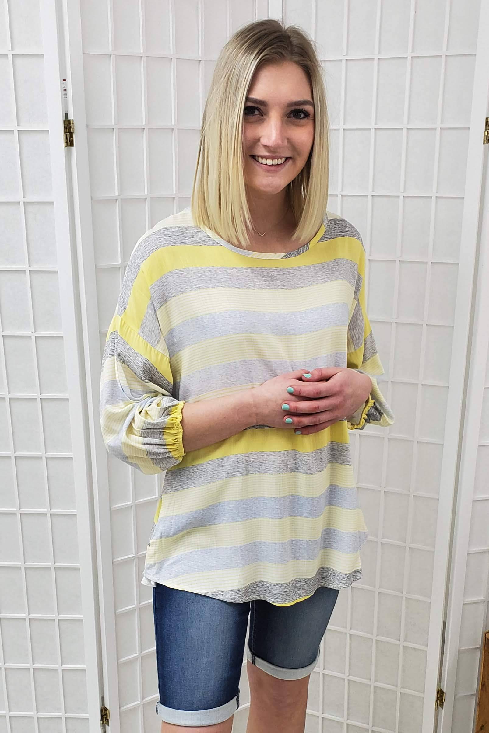 Zadie Striped Top