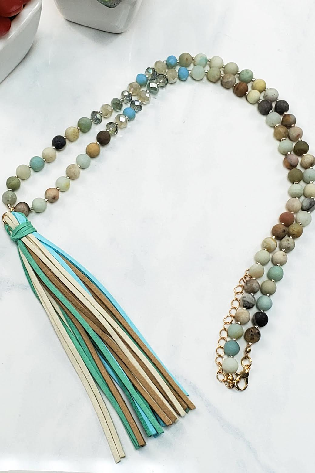 Natural Stone Tassel Necklace HDN-2238