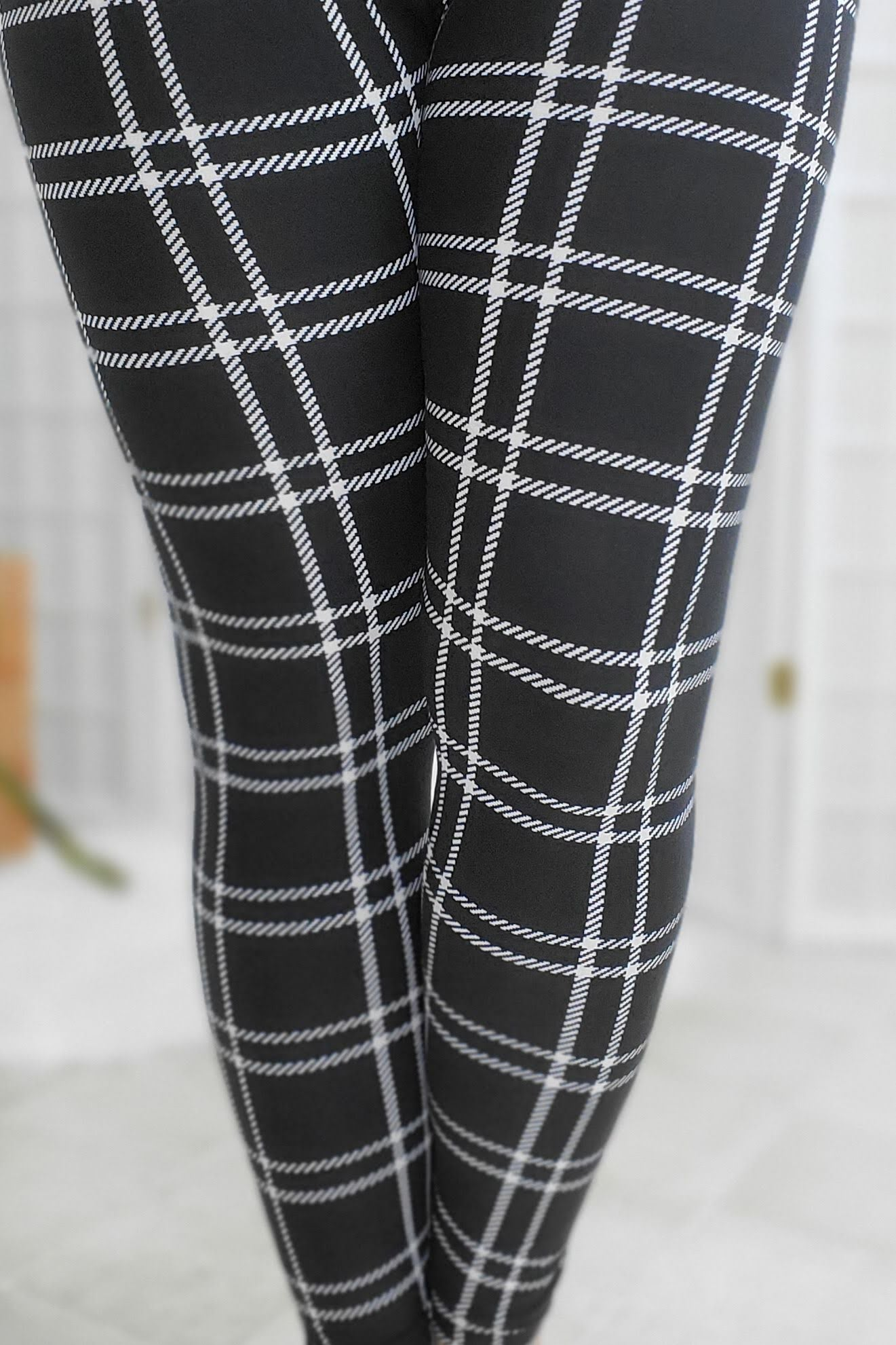 Quilted Plaid Leggings