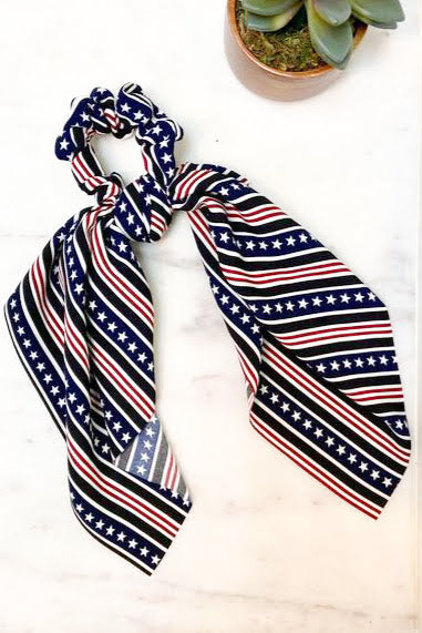 Stars And Stripes Scarf Scrunchie