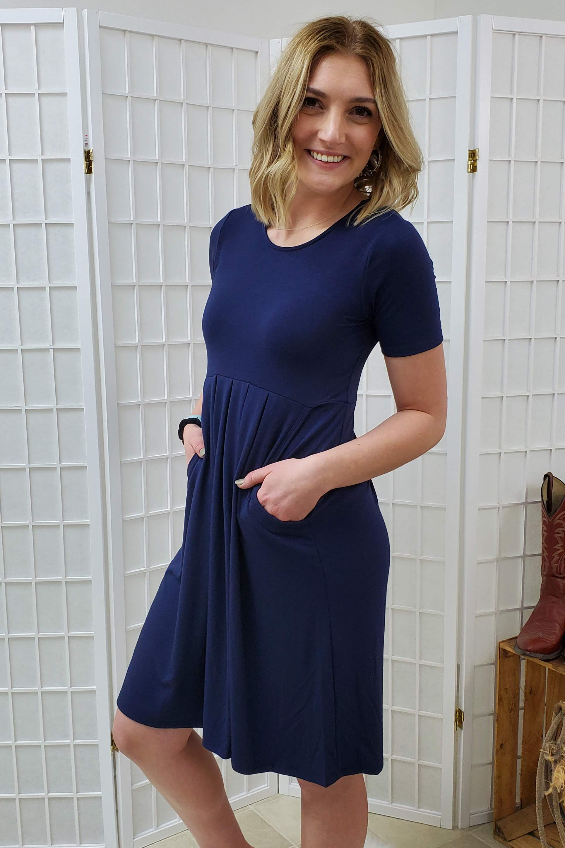 Bishop Navy Dress
