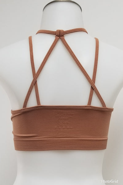 Kimberly Egg Shell High Neck Bralette