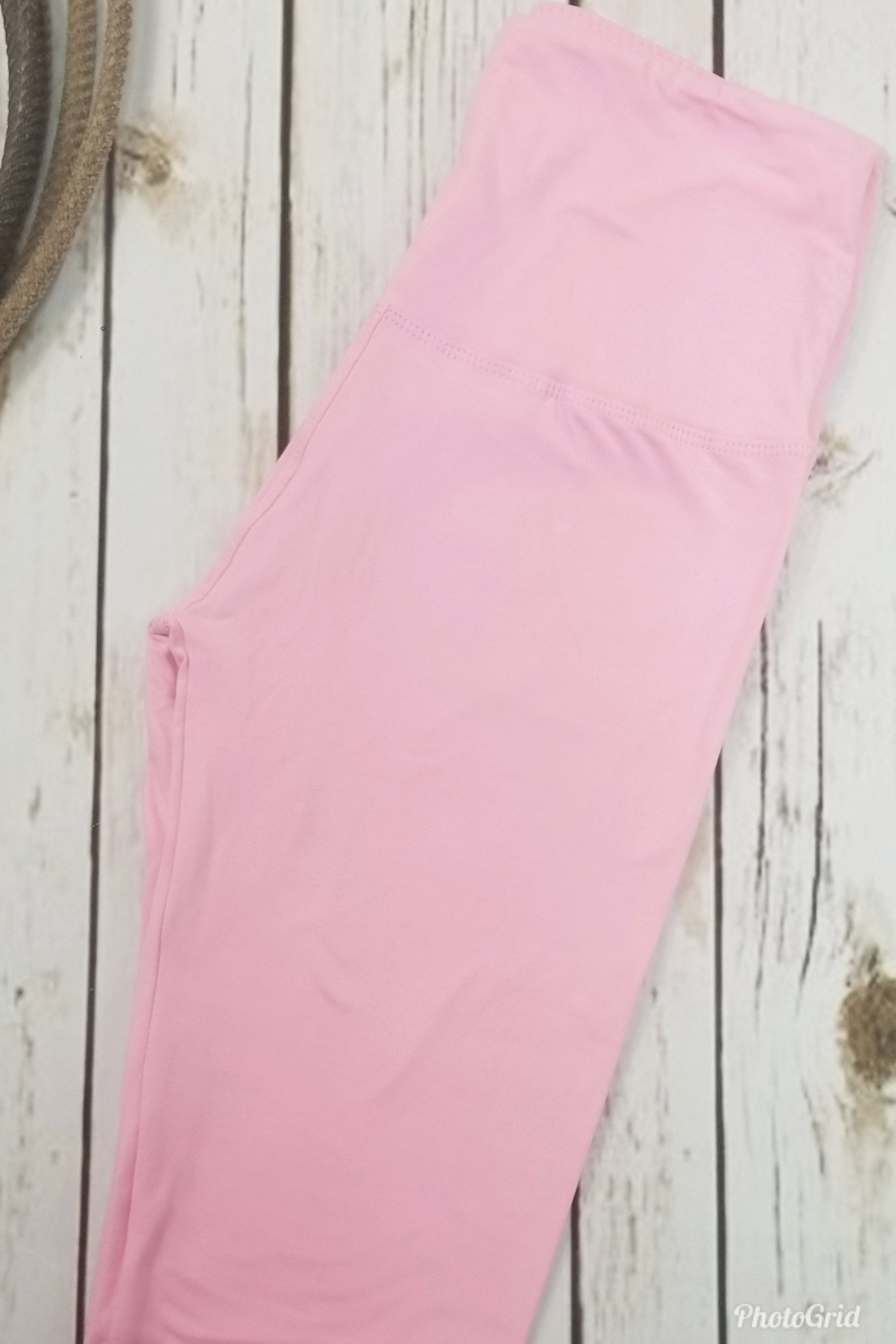 Solid Pink Leggings Yoga Band *SPECIALIZED*