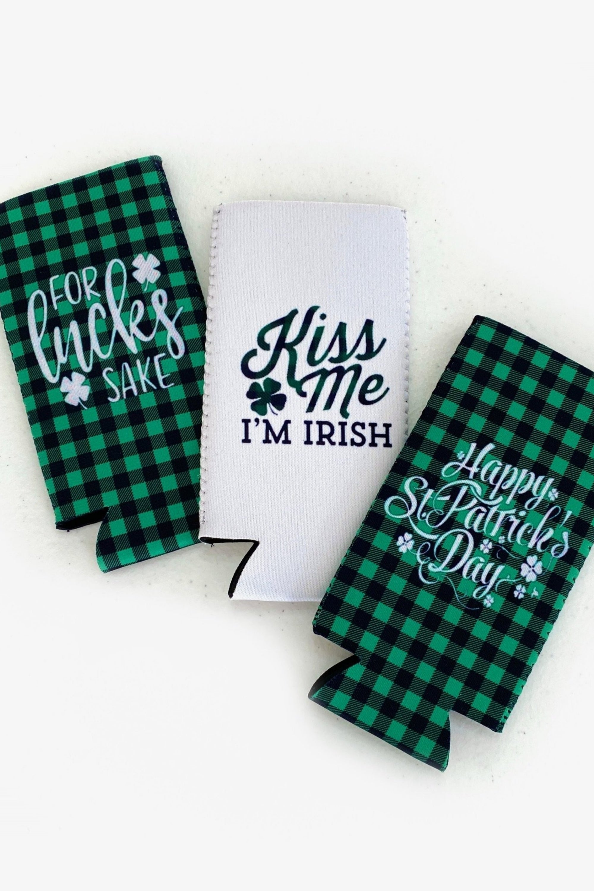 St. Patrick's Day Slim Can Koozie 3 Pack
