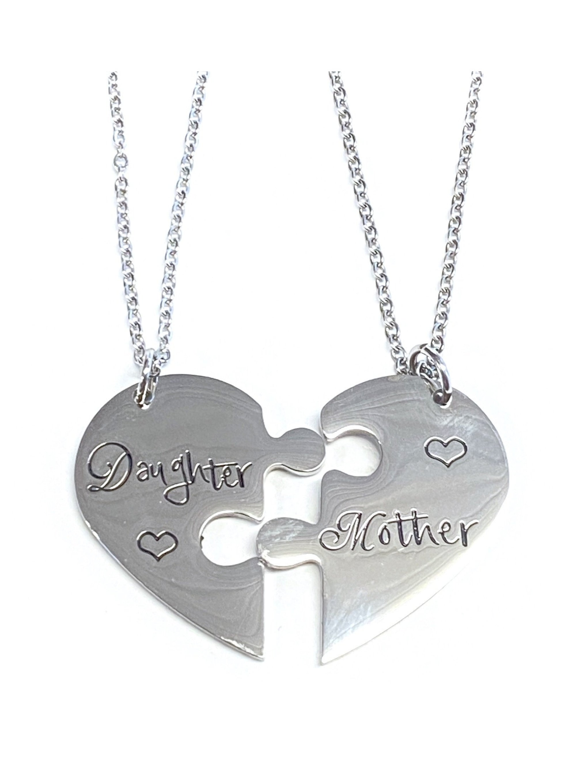 Mother & Daughter Heart Necklaces