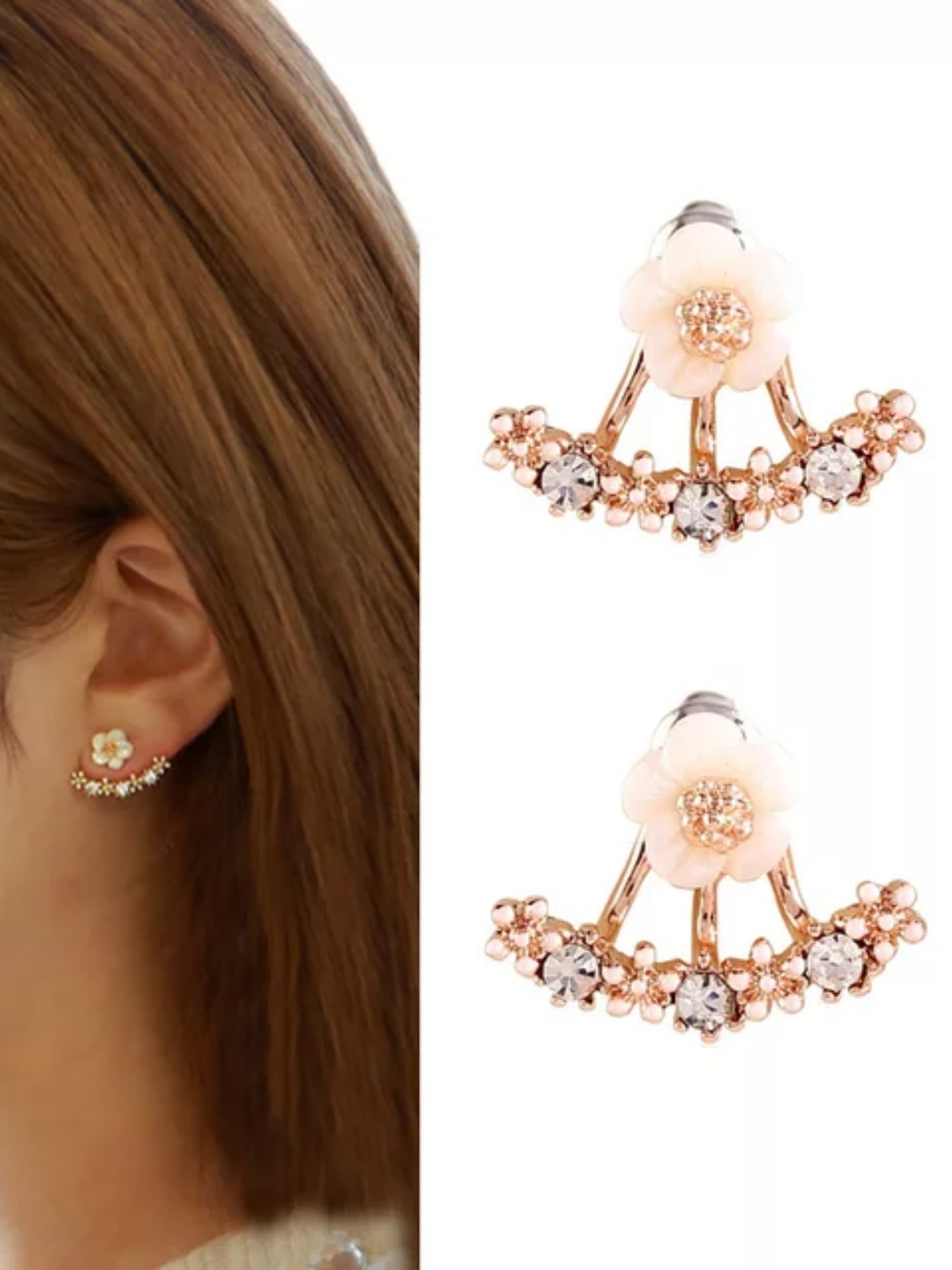 My Perfect Daisy Earrings in Rose Gold