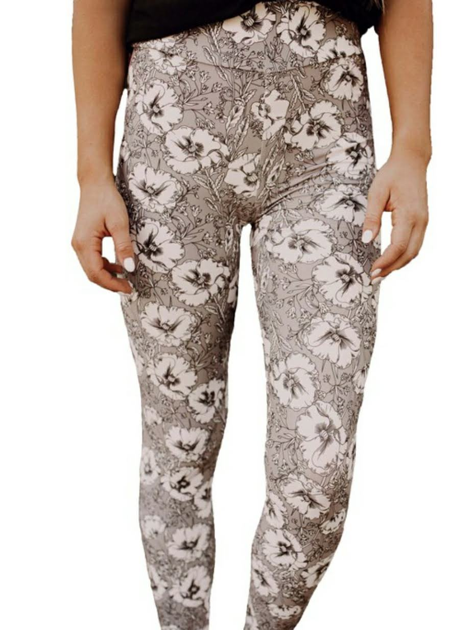 Taupetastic Yoga Band Leggings