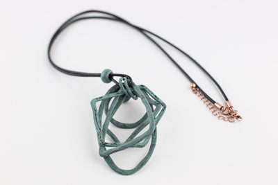 Abstract Geometrical Patina Necklace RP-1221