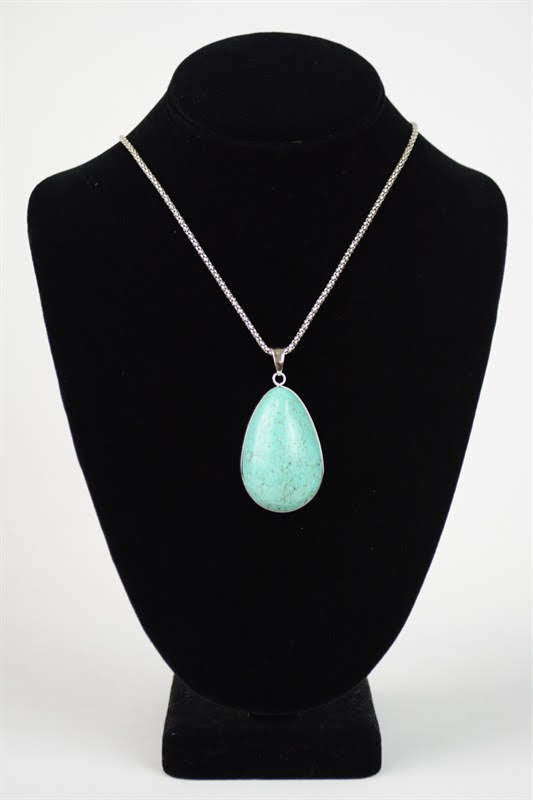 Turquoise Tear Drop Necklace YJN-006
