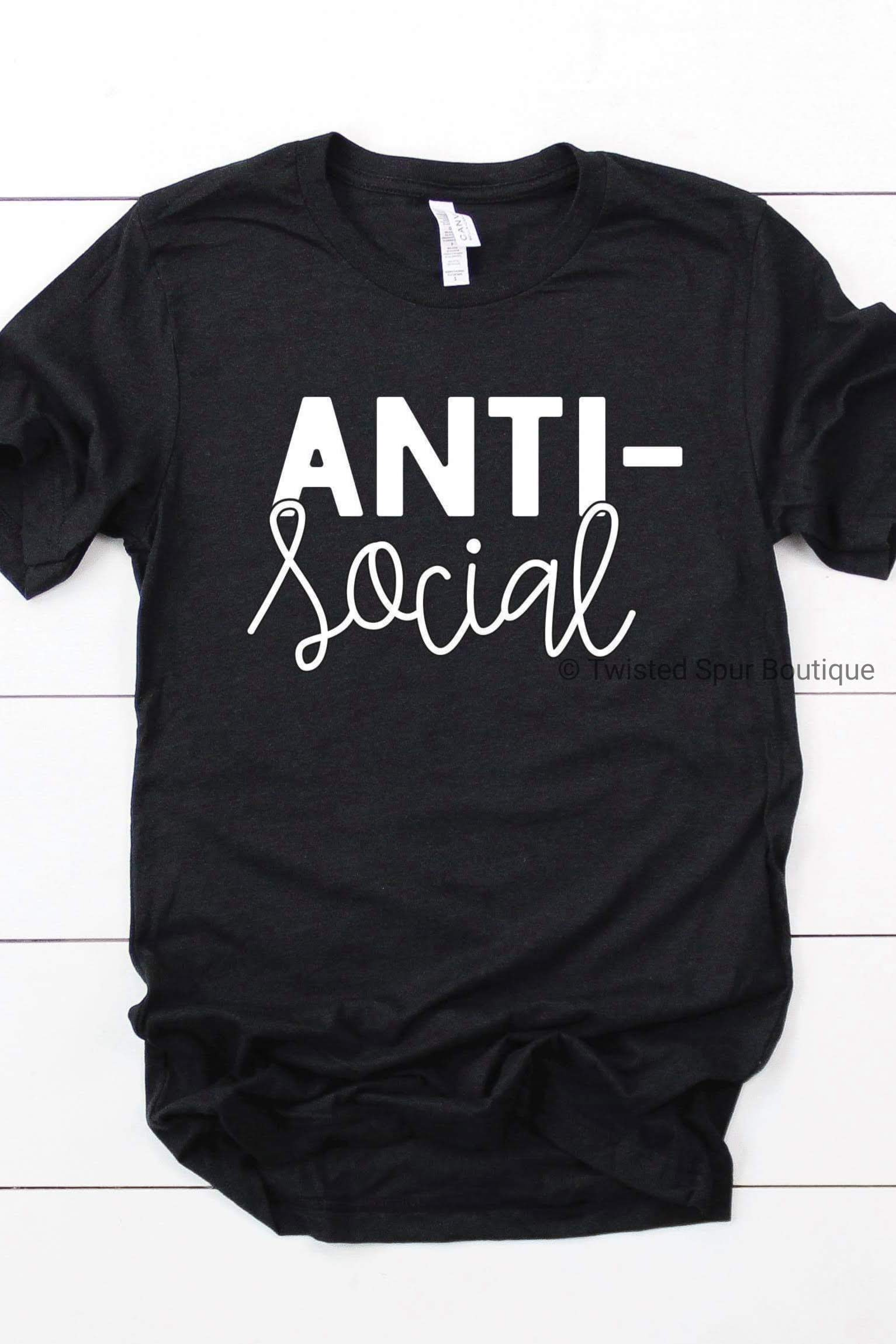 Anti Social Tee (Bella Canvas)