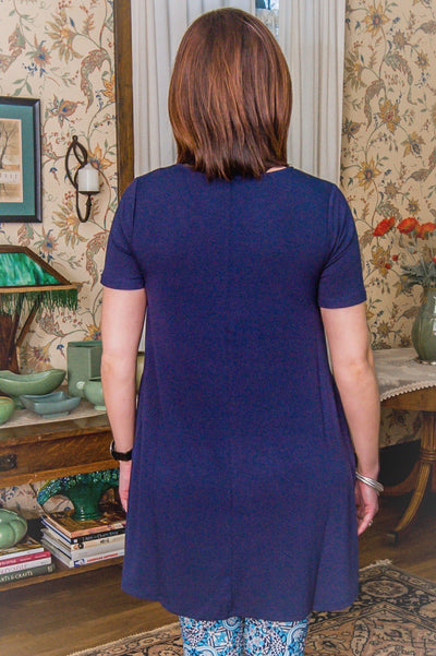 Emily Navy Tunic (Item #27) CLEARANCE