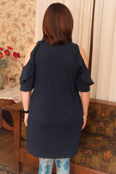 Carina Navy Tunic Dress
