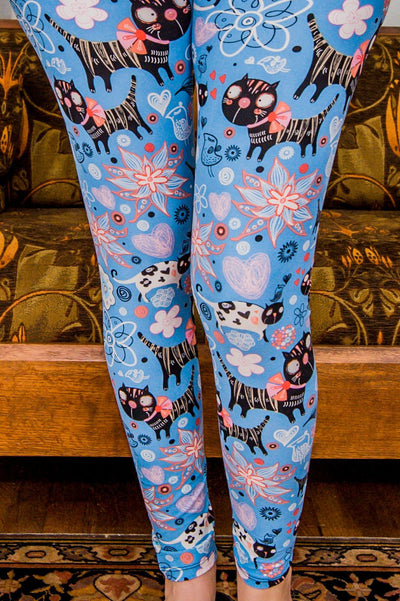 Feline Blues Leggings *SPECIALIZED*