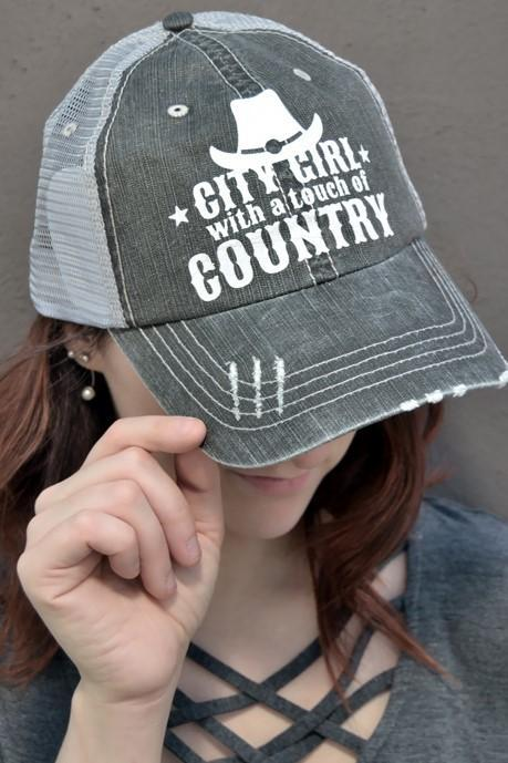 City Girl with a Touch of Country Hat