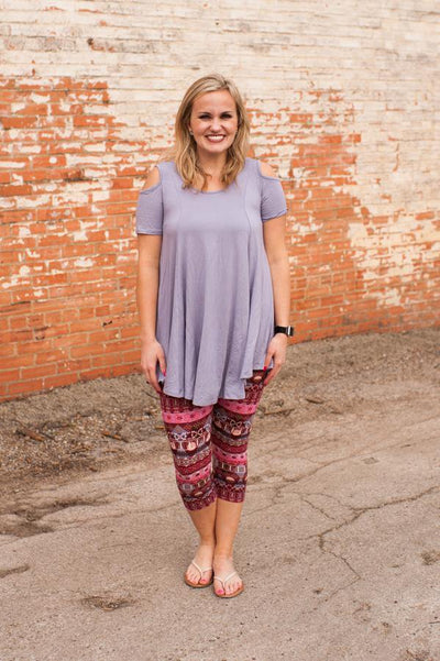 Sterling Cold Shoulder Lavender Tunic CLEARANCE