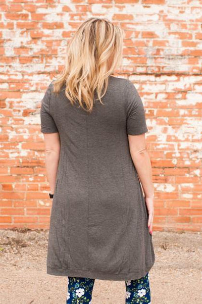 Jolene Hi-Low Mid Grey Tunic