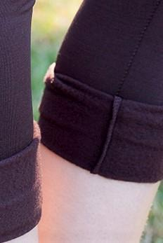 Fleece-Lined Nylon Brown Leggings