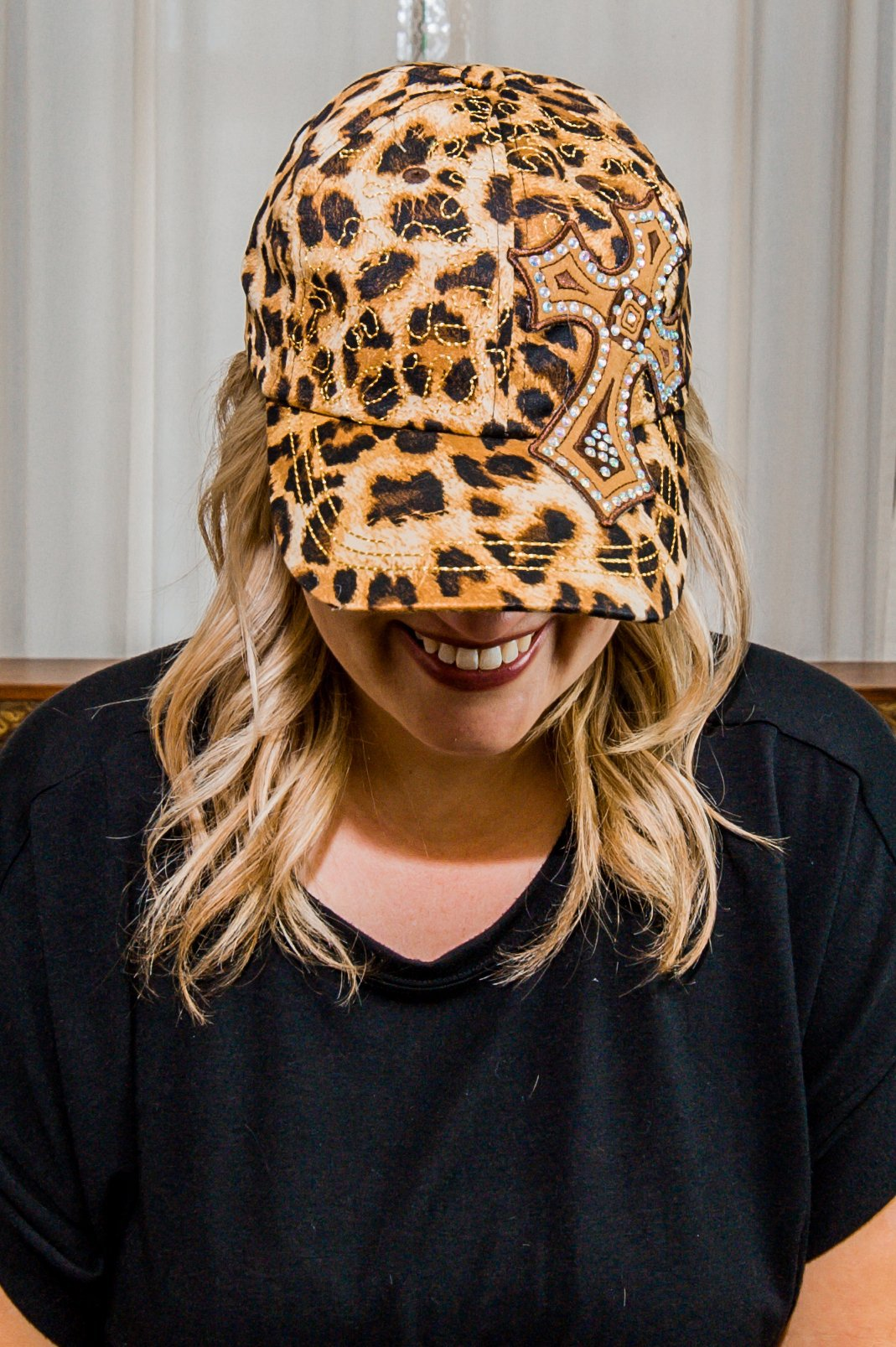 Leopard Cross Hat CLEARANCE