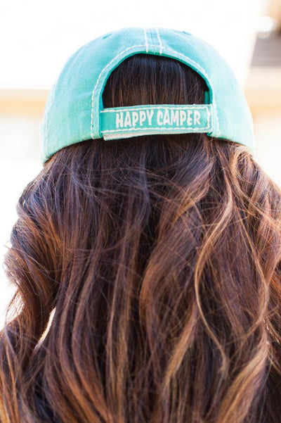 Happy Camper Trailer Turquoise Hat