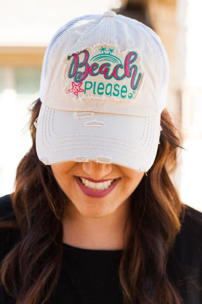 Beach Please Cream Hat