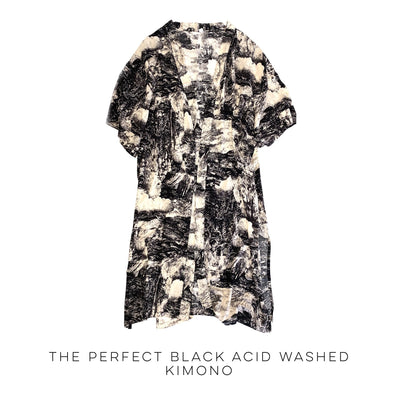 The Perfect Black Acid Washed Kimono