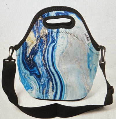 Blue Geode Lunch Tote