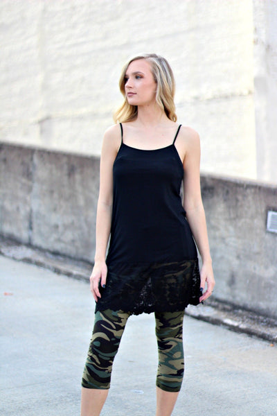 Lace Extender Black Cami **LIMITED SIZES LEFT