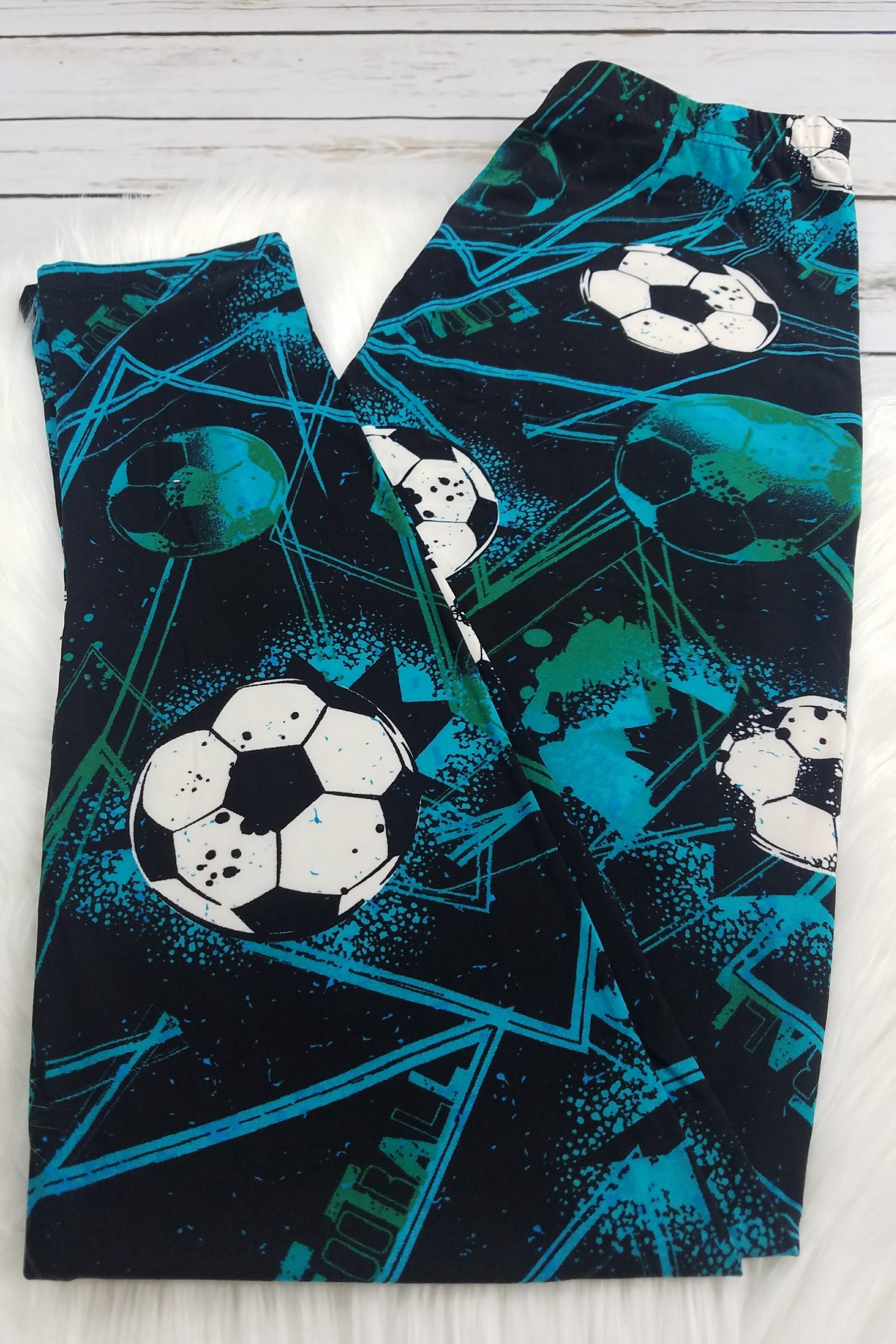 Soccer or Football the Debate Leggings *LIMITED SPECIALIZED PRINTS*