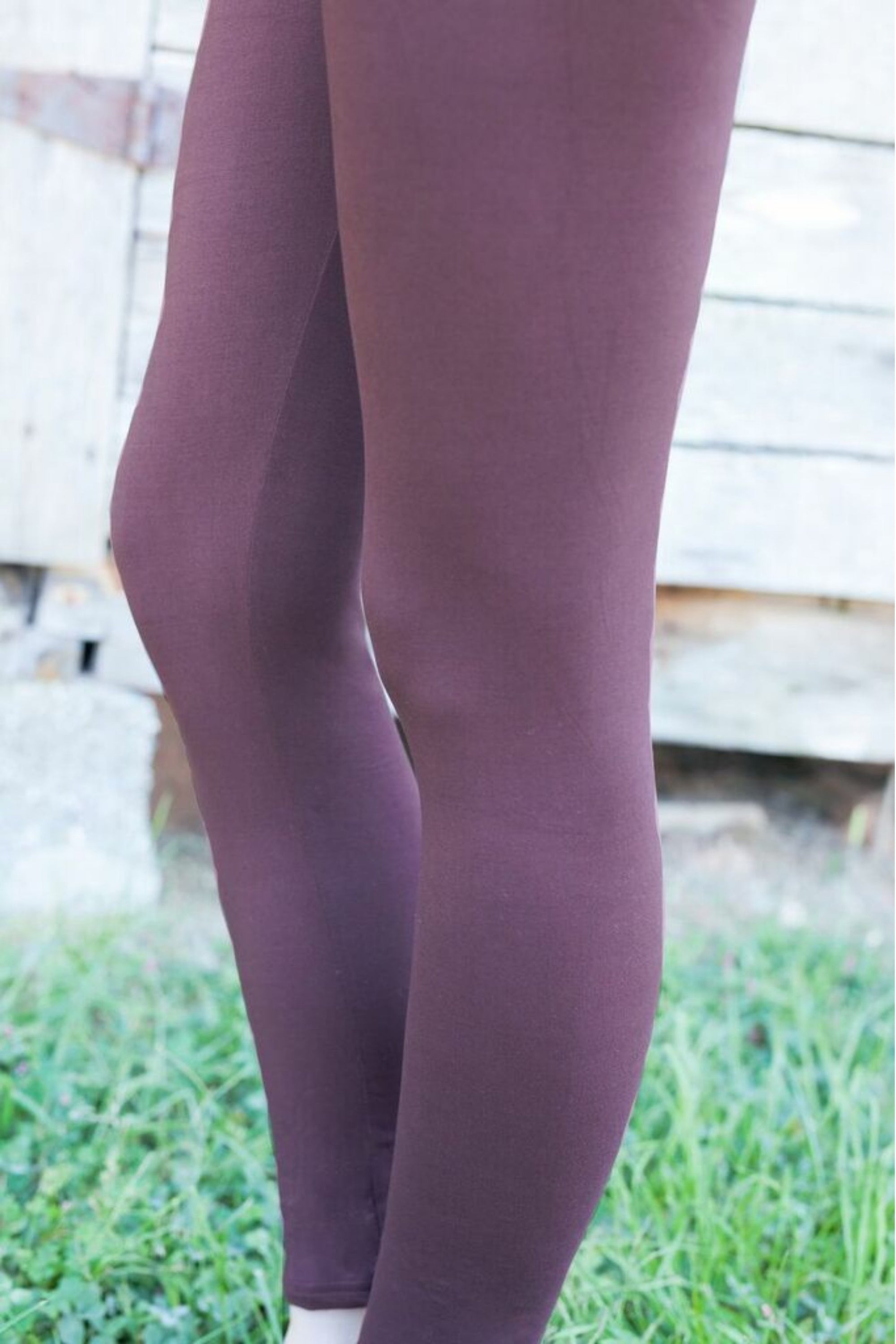 Solid Brown Leggings