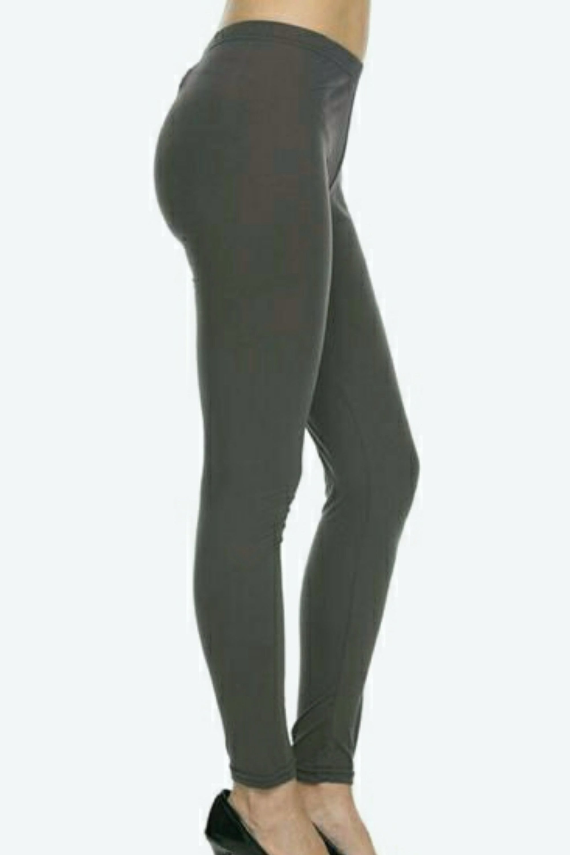 Solid Charcoal Leggings
