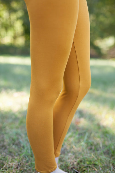 Solid Golden Mustard Leggings