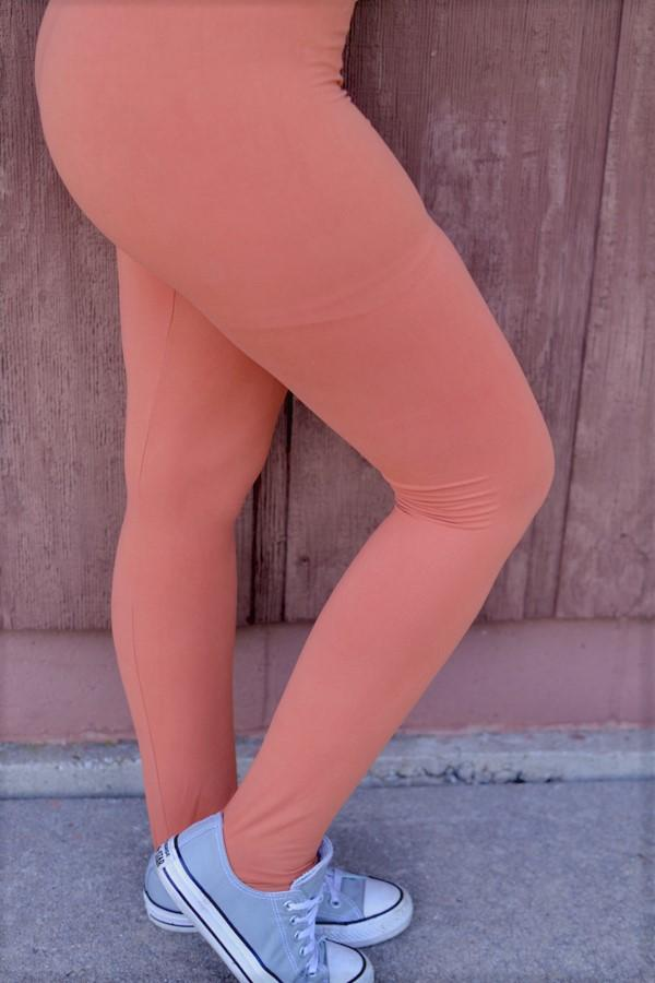 Solid Rust Leggings