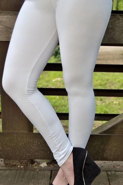 Solid White Leggings